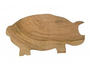 Dřevěné mangové prkénko prase - 44*24*2cm