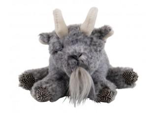 Plyšová hračka šedý spící kozlík - 17cm