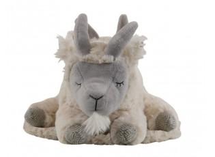 Plyšová hračka spící bílá koza - 25cm