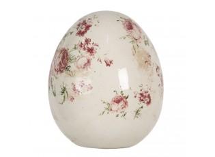 Dekorace vintage vejce s růžemi Rose - Ø 14*16 cm