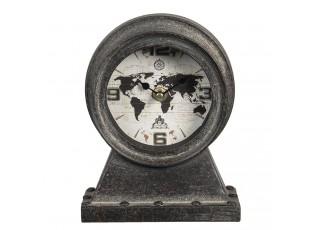 Vintage stolní hodiny The World - 15*8*19 cm / 1*AA