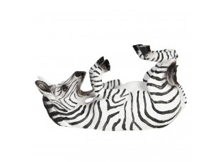 Držák na láhev v podobě ležící zebry - 32*12*18 cm