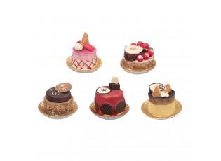 Malé dekorační dortíčky - Ø 6*6 cm (5ks)