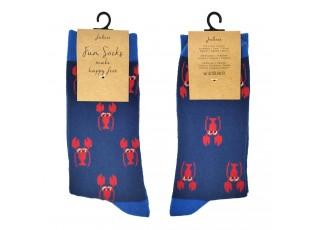 Veselé modré ponožky s humry - 39-41