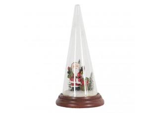 Dekorace Santa ve skleněném kuželu - Ø 13*27 cm