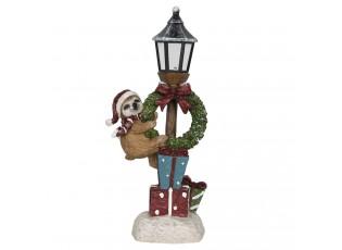 Vánoční dekorační lucerna s lenochodem - 15*10*34 cm