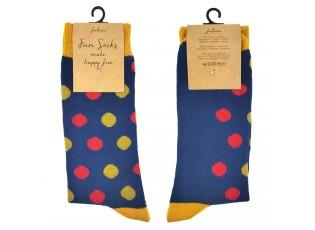 Veselé modré ponožky s bodkami - 39-41