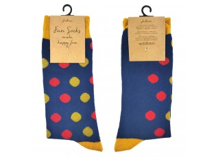 Veselé modré ponožky s puntíky - 35-38