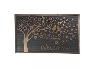 Venkovní rohožka gumová se stromem Welcome - 75*45*1 cm