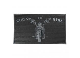Gumová venkovní rohožka Born to Ride - 75*45*1 cm