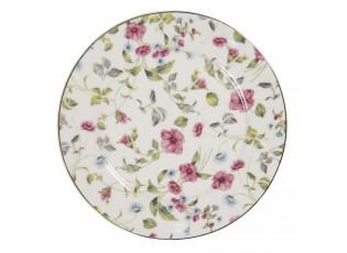 Porcelánový talíř Pre Fleuri – Ø 21*2 cm
