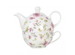 Porcelánová čajová sada pro jednoho Pre Fleuri - 0,4L