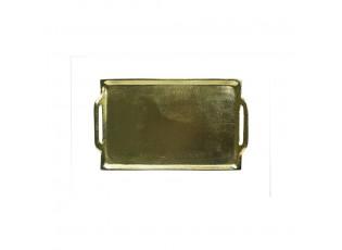 Zlatý kovový servírovací tácek - 20*14cm