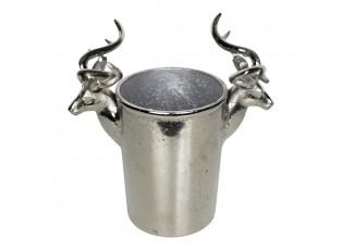 Stříbrný kovový chladič na víno s jeleny - 28*13*24