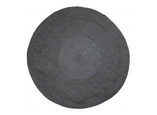Černý kulatý jutový koberec Bastien - Ø170*1cm
