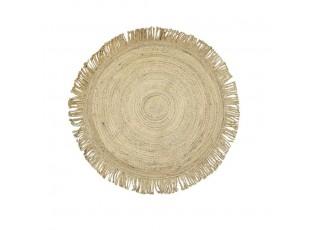 Přírodní jutový koberec s třásněmi - Ø120*1cm