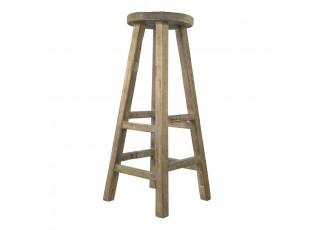 Hnědá barová stolička z jilmového dřeva - 30*30*80cm