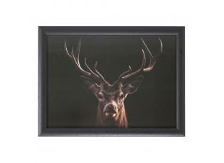 Podnos na nohy s jelenem Black Deer  - 43*33*7cm