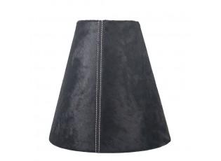 Kónické černé stínidlo lampy z hovězí kůže - Ø 26* Ø 13*25cm