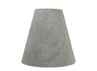 Šedé stínidlo na lampu z hovězí kůže - 26*13*25cm
