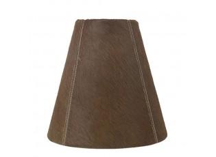 Kónické stínidlo lampy z kravské kůže hnědá - Ø 26* Ø 13*25cm