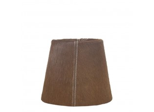 Hnědé stínidlo lampy z hovězí kůže - Ø18*Ø 13*15cm / E27