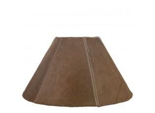 Kónické hnědé stínidlo lampy z hovězí kůže - Ø 39*Ø 16*23cm