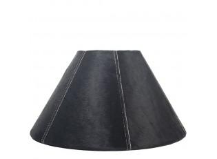 Kónické černé stínidlo lampy z hovězí kůže - Ø 39*Ø 16*23cm
