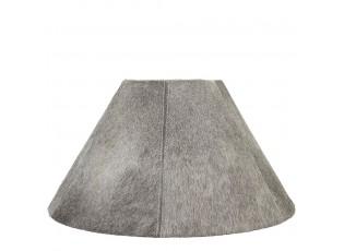 Kónické šedé stínidlo lampy z hovězí kůže - Ø 39*Ø 16*23cm