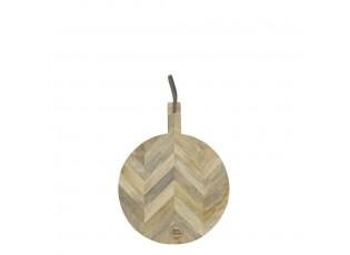 Kulaté prkénko z mangového dřeva - 41*30*1,7cm