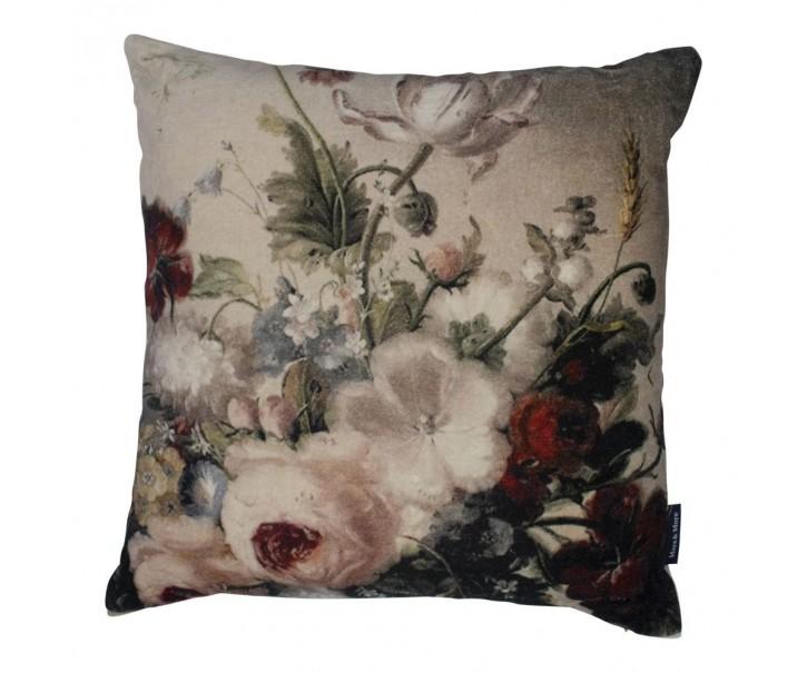 Sametový polštář rozkvetlé květiny Flowers  6  - 45*45*15cm