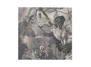Nástěnný sametový panel Jungle Panther - 45*45*1cm