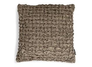 Taupe sametový nařasený polštář Smock - 45*45*10cm