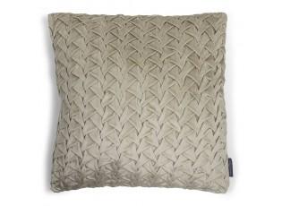 Béžový sametový nařasený polštář Smock I - 45*45*10cm