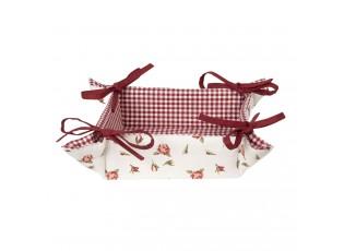 Bavlněný košík na pečivo Romantic Roses - 35*35*8 cm