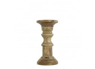 Dřevěný svícen Wood z mangového dřeva - Ø 10*20cm