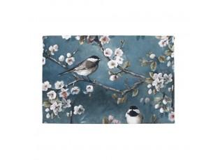 Sametový panel/obraz na stěnu Ptáčci s květy - 35*45*1cm