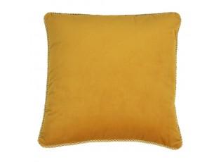 Sametový medově zlatý polštář Golly - 45*45*10cm