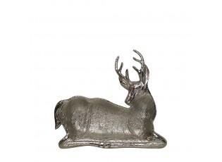 Stříbrná kovová mísa ve tvaru jelena - 21*21,5*1,5cm