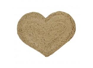 Jutové prostírání / předložka velké srdce Heart - 60*45*0,5cm