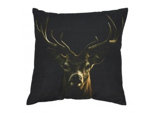 Černý polštář s jelenem Black Deer - 50*10*50cm