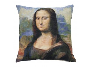 Gobelínový polštář Leonardo da Vinci Mona Lisa - 45*45*15cm