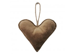 Měděné sametové závěsné srdce - 16*18*5cm