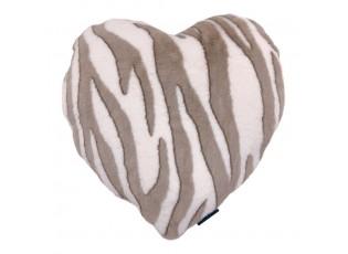 Semišový polštář Zebra ve tvaru srdce- 45*45*15cm
