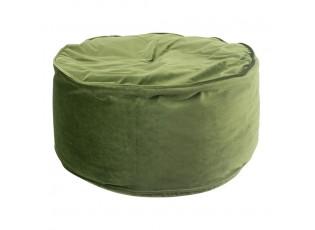 Zelený sametový kulatý puf Copper - 60*60*30cm