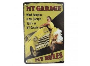 Plechová dekorační deska My garage se vám bude hodit ne jen ve vaší garáži.