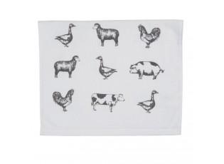 Kuchyňský froté ručník Country Life Animals - 40*66 cm