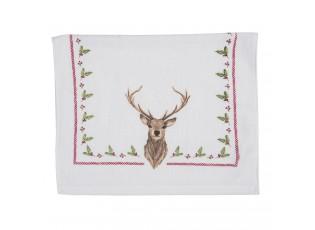 Froté kuchyňský ručník s jelenem Cosy Lodge - 40*66 cm
