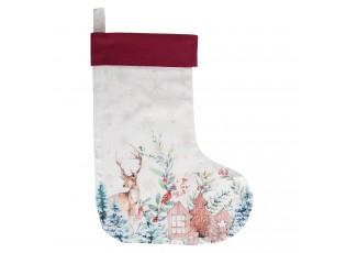 Textilní vánoční punčocha Dearly Christmas  - 30*40 cm