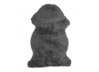 Dekorativní šedá kožešina z ovčí kůže - 60*90*5cm